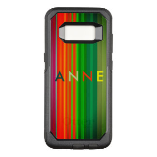 Anne Personalized Stripes Colorful Bold Chic OtterBox Commuter Samsung Galaxy S8 Case