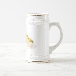 Anneaux de mariage de blanc et d'or Stein par Petr Chope À Bière