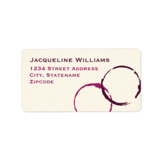 Anneaux de retour de tache de vin des étiquettes d étiquettes d'adresse