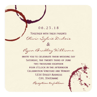 Anneaux de tache de vin du faire-part de mariage  