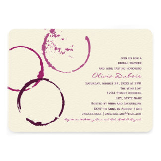 Anneaux nuptiales de tache de vin de l invitation