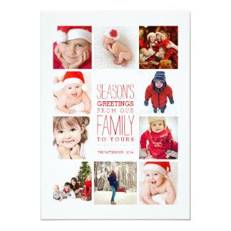 Année de collage de Bonnes Fêtes de photos en Carton D'invitation 12,7 Cm X 17,78 Cm