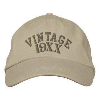 Année vintage personnalisable casquette brodée