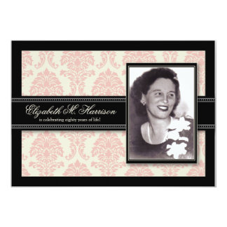 Années d'or de damassé d'invitation de fête carton d'invitation  12,7 cm x 17,78 cm