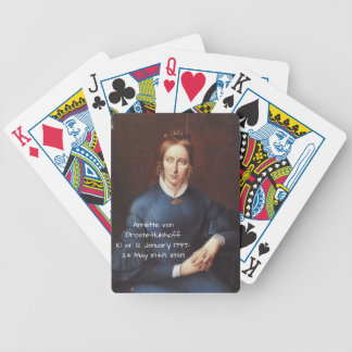 Annette von Droste-Hulshoff 1838 Bicycle Playing Cards