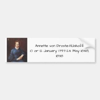 Annette von Droste-Hulshoff 1838 Bumper Sticker