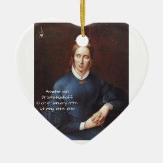 Annette von Droste-Hulshoff 1838 Ceramic Ornament