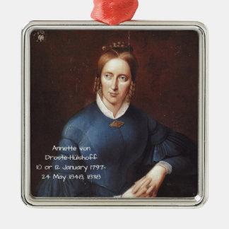 Annette von Droste-Hulshoff 1838 Metal Ornament