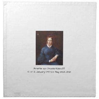 Annette von Droste-Hulshoff 1838 Napkin