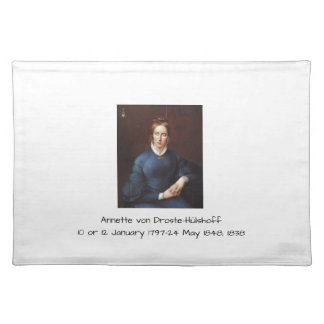 Annette von Droste-Hulshoff 1838 Placemat