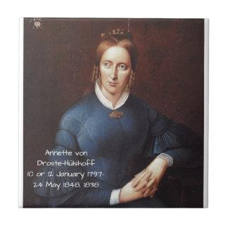 Annette von Droste-Hulshoff 1838 Tile