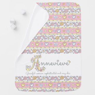 Annevieve name and meaning hearts baby blanket