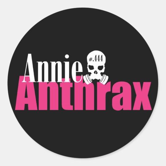 annie anthrax - black sticker