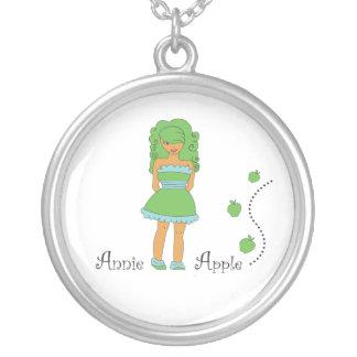 Annie Apple Round Pendant Necklace
