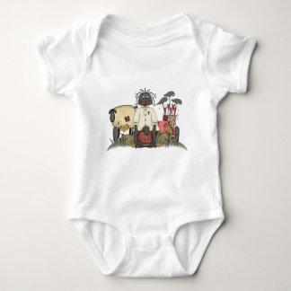 Annie Doll Sheep & Crows Baby Bodysuit