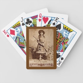 Annie Oakley Sepia Bicycle Playing Cards