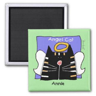 Annie tabby cat angel magnet