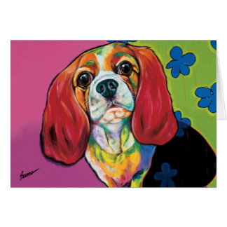 Annie the Therapy Dog Note Card by Ron Burns