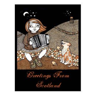 Annies Accordian Postcard