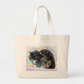 Annies head hangs low large tote bag