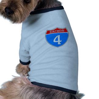 Anniversaire #4 vêtement pour chien