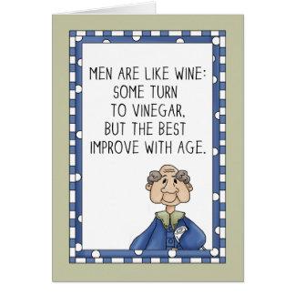 Anniversaire amélioré par âge carte de vœux