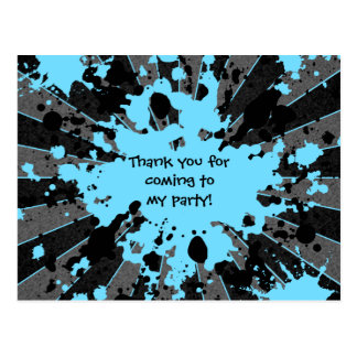 Anniversaire bleu génial de paintball carte postale