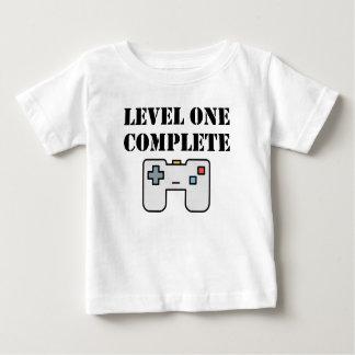 Anniversaire complet du niveau un premier t-shirt pour bébé