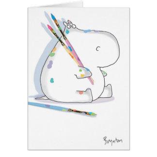 Anniversaire d'ARTISTE d'HIPPOPOTAME Carte De Vœux