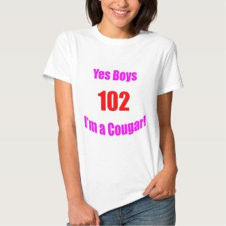 Anniversaire de 102 pumas tee shirts