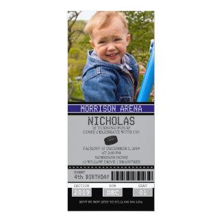 Anniversaire de billet d'hockey carton d'invitation  10,16 cm x 23,49 cm