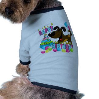 Anniversaire de chiots de PEGUI joyeux - caramel Manteau Pour Animal Domestique