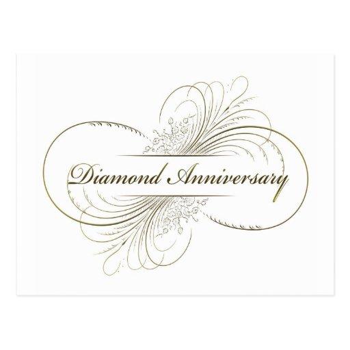 Anniversaire de diamant cartes postales