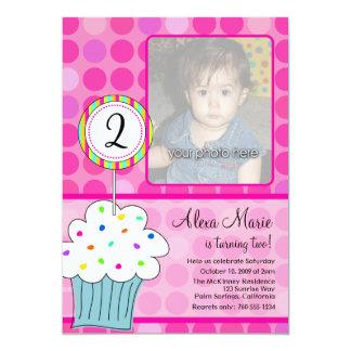 Anniversaire de petit gâteau carton d'invitation  12,7 cm x 17,78 cm