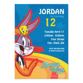 Anniversaire Looney d'exposition d'airs Carton D'invitation 12,7 Cm X 17,78 Cm