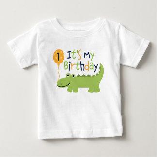 Anniversaire mignon d'alligator t-shirt pour bébé