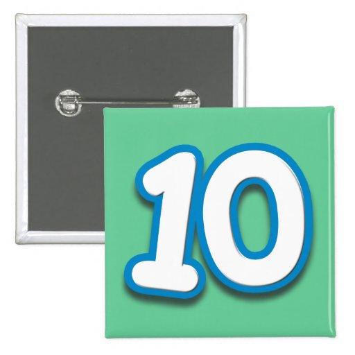 Anniversaire ou anniversaire de 10 ans - ajoutez l pin's