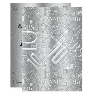 Anniversary 10 Years Word Cloud ID267 Card