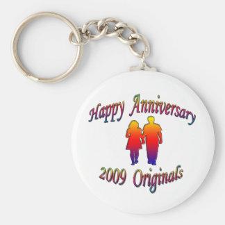 Anniversary 2009 Couple Basic Round Button Keychain