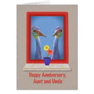 aunt and uncle wedding anniversary cards photocards. Black Bedroom Furniture Sets. Home Design Ideas