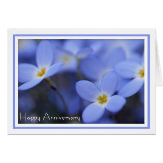 Anniversary - Bluettes Greeting Card