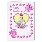 Anniversary card - 13th lace