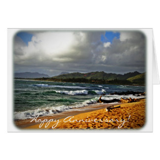Anniversary Card - Beach Photograph (blank inside)