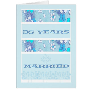Anniversary Card in Lt. Blue, 35th.