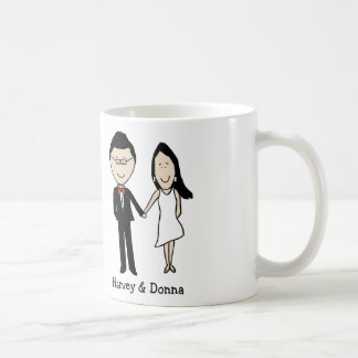 Anniversary couple- personalized cartoon classic white coffee mug