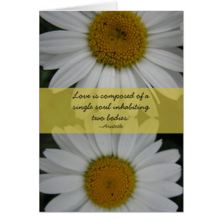 Anniversary--Daisies, Aristotle Quote Card