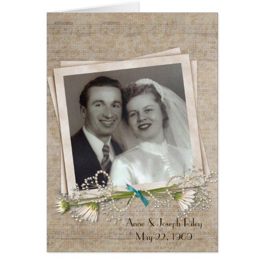 Anniversary dinner invitation with photo frame