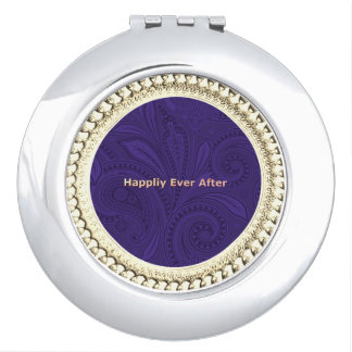 Anniversary_Fairytale_Sapphire  Paisley_Round Makeup Mirrors