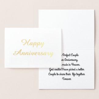 Anniversary Foil Card
