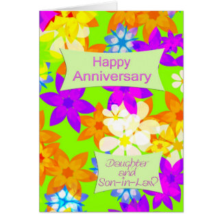Anniversary for daughter and son-in-law greeting card